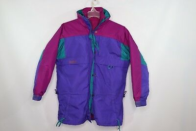 Vintage 90s New Columbia Womens Medium Gizzmo 4 In 1 Winter Parka Jacket Purple 4in 1 Parka