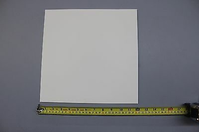 .030 Thick Snow White Polypropylene Plastic Sheet 12 X 12 Light Diffusing