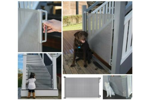 """Perma Child/Baby/Pet Safety Retractable Gate 33"""" Tall up to 71"""" Wide"""