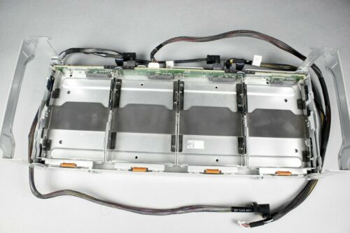 """Dell R730XD LFF 4 x 3.5"""" midplane cage assembly with backplane, cables & trays"""