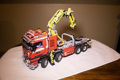 Lego Technic Crane Truck 8258 Excellent condition + Instructions Complete No Box