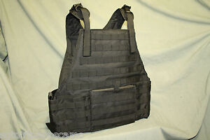 Black-Tactical-Molle-Plaite-Carrier-Vest
