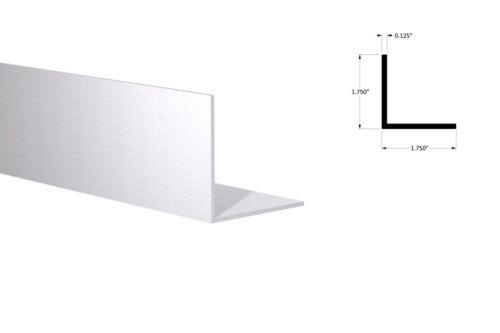 """Aluminum Angle: 1-3/4"""" x 1-3/4"""" x 1/8"""" Wall (8 Foot Length) Mill Finish"""