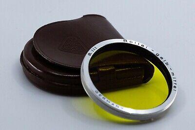 Rolleiflex Bay III 3  gelb mittel yellow  filter w/ Case for 2.8F