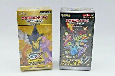 1 BOX EACH Pokemon Card Shiny Star V & GX Tag team all stars Japanese DHL Japan
