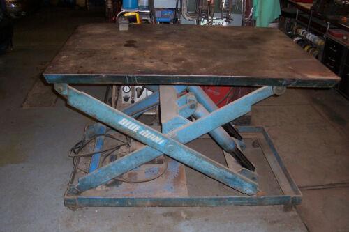 "Electric Hydraulic Scissor Lift Table  2,000 Lb Capacity  42"" X 60""  Table"