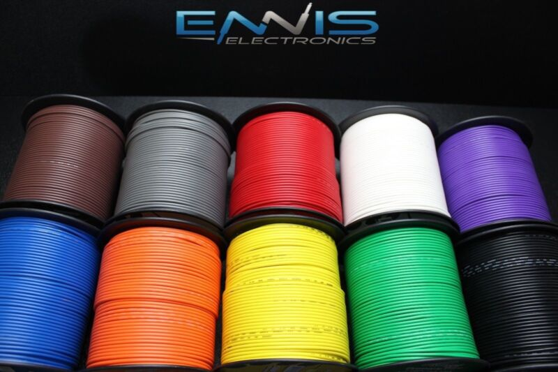 18 GAUGE WIRE PICK 6 COLORS 25 FT EA PRIMARY AWG STRANDED COPPER POWER REMOTE
