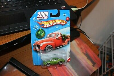2008 Hot Wheels-Green Holiday Rods Olds 442 W-30 - Real Riders Tires