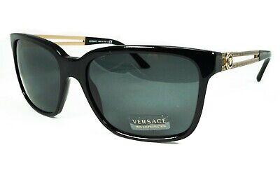 Versace Men's VE4307 VE/4307 GB1/87 Gray Lens Black/Gold Sunglasses Authentic