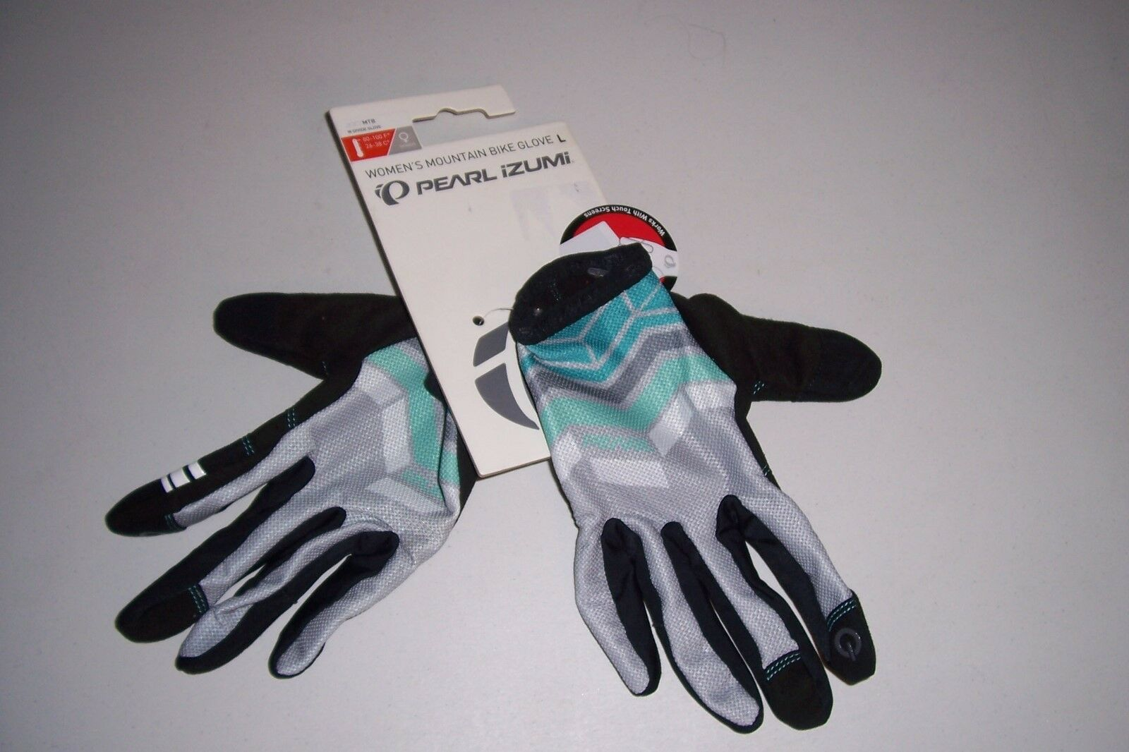 Pearl iZumi Women's Gray/Black W Divide Mountain Bike Glove