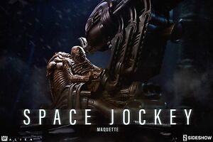 SIDESHOW SPACE JOCKEY MAQUETTE RESIN STATUE FIGUR 53 CM - Alien H.R. Giger.