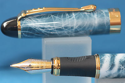 New Jinhao x450 Plasma Lacquered Medium Fountain Pen with Gold Trim, UK Seller