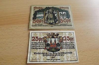 *Notgeld Lindenberg im Allgäu 25+50 Pfennig 1918 *(ORD 2)