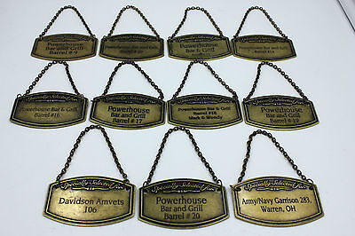 11 PCS JACK DANIELS TENNESSEE SINGLE BARREL METAL NECK HANG TAGS ALL DIFFERENT  for sale  Shipping to Canada