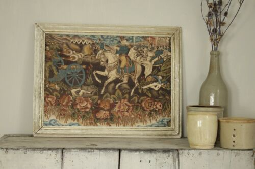 Antique Fabric American Mexican war c 1850 chintz printed frame framed military