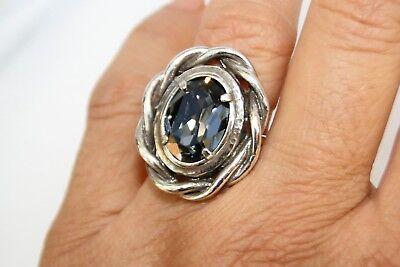 NWT Authentic Brighton Your True Color Radiant Silver Gray Swarovski Ring Size 9