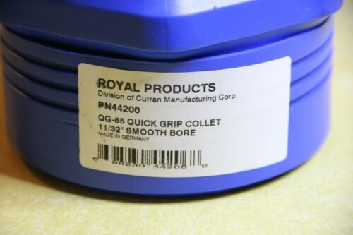 """Royal Products QG-65 Quick Grip Collet 11/32"""" Smooth Bore 44206"""