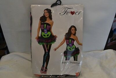 Fever Neon Skeleton Tutu Dress Women's Costume Size XS 2-4 (Neon Tutus)