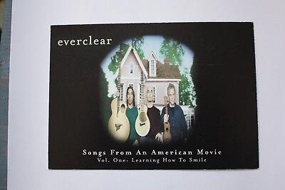 4 Everclear postcards/flyers