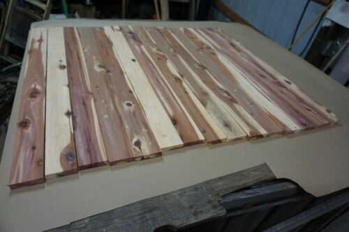 """15 Pieces of Aromatic Eastern Red Cedar Boards 1/2"""" x 2 1/2"""" x 32"""" long"""