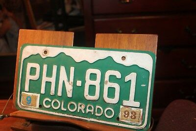 1993 Colorado License Plate PHN-861