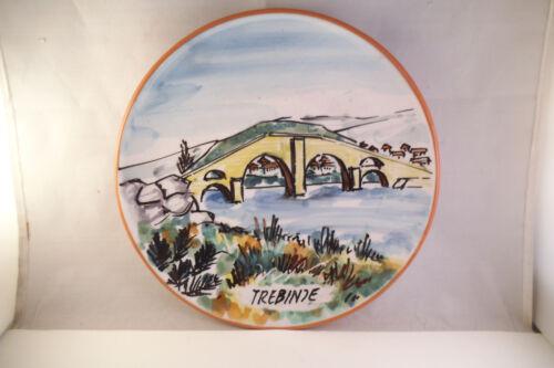 Lovely Trebinje Bosnia Herzegovina Pottery Souvenir Plate Bridge