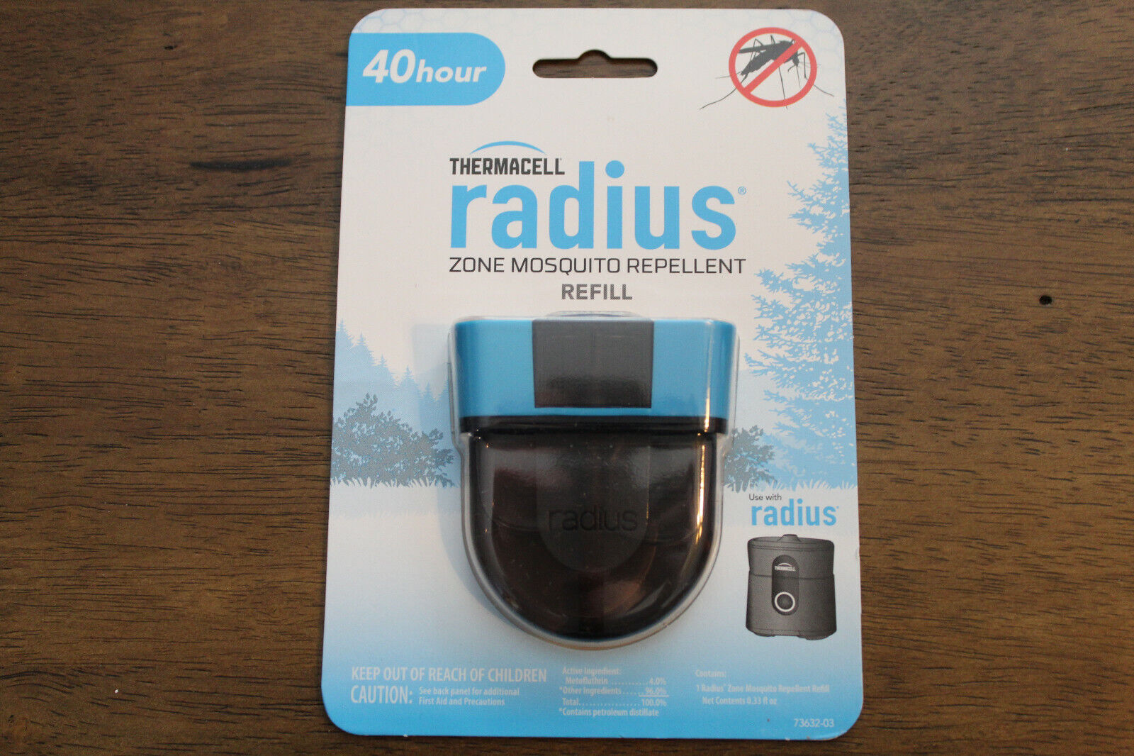 Thermacell Radius 40 Hours Refill, Gray