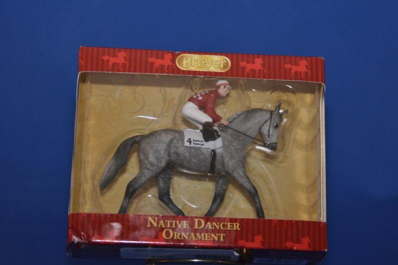 Breyer #700663 NATIVE DANCER Thoroughbred race horse Christmas Ornament NIB