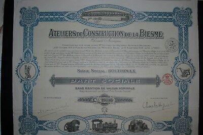 Ateliers de Construction de la Biesme 1906    Hochdeko
