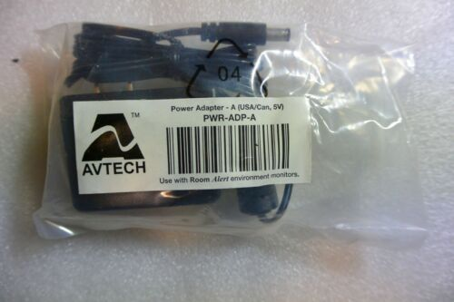AVTECH PWR-ADP-A 5V POWER SUPPLY ROOM ALERT 26W 26WO 24E 11E 4E 3E TOWERS FLOOD