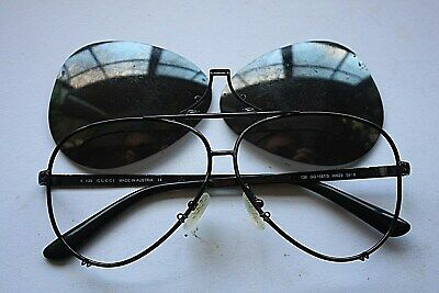 GENUINE GUCCI 1687/S BLACK AVIATOR FRAMES WITH REMOVABLE LENS MADE IN (Sunglasses With Removable Lenses)