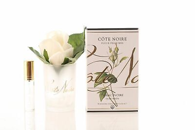 Used,  Ivory White Perfumed Natural Touch Rose Bud in Frost Vase with Perfume Spray for sale  Doncaster