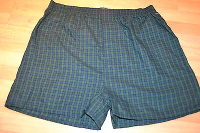 NEW Mens  Boxers INTIMO Green/Blue Plaid COTTON/POLYESTER  Large b3