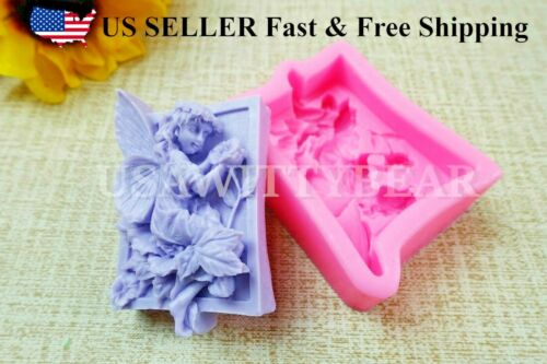 Flower Fairy DIY Handmade Soap Cake Cookie Mold Silicone Molds US Seller