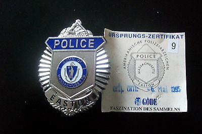 USA Polizeiabzeichen Massachusettes Easton Police  Göde