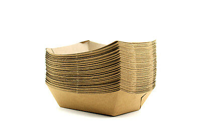 50 Brown Kraft Disposable Food Trays Food Trucks Restaurants Catering Supplies