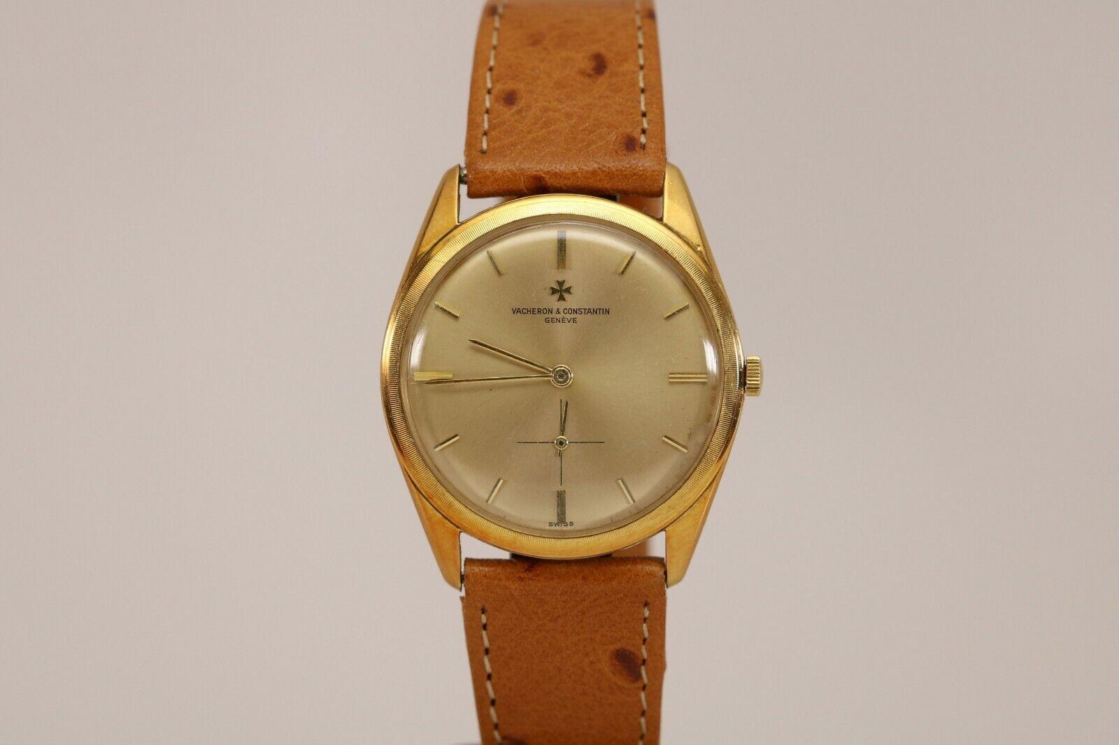 Vacheron Constantin 18K Yellow Gold Mechanical Vintage Watch Ref 6360 34mm 1960s - watch picture 1