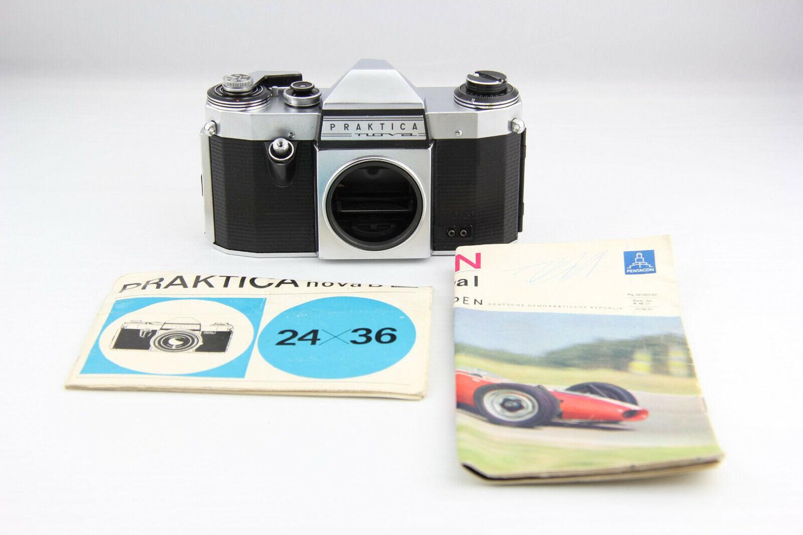 Praktica Nova M42 analoge Spiegelreflexkamera silber # 6477