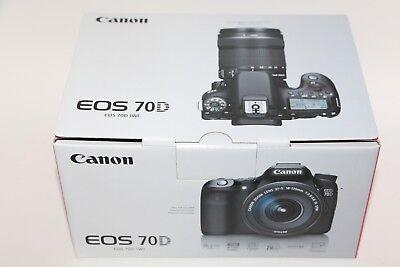 Canon EOS 70D 20.2MP Digital SLR Camera - Black (Body Only) - BRAND NEW IN BOX