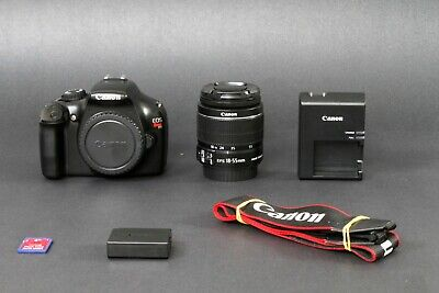 Canon EOS Rebel T3 12.2MP DSLR Camera, Black. EF-S 18-55 IS II, Clean, Free Ship
