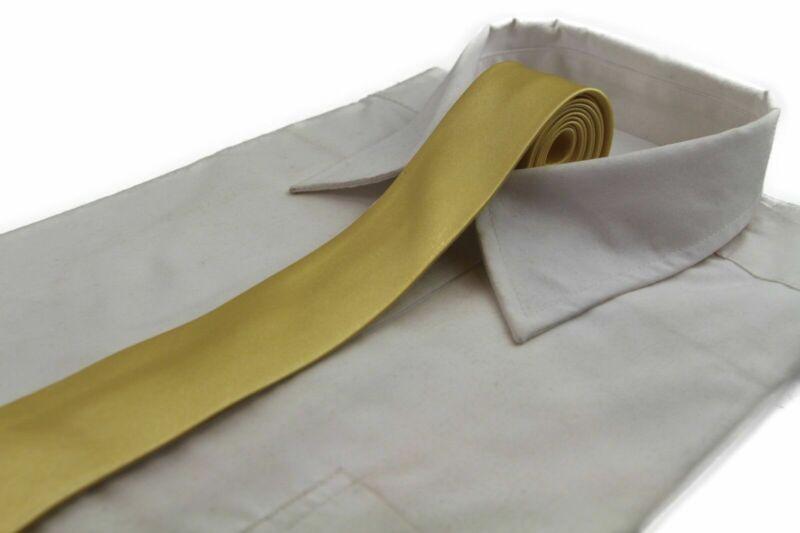 Mens Yellow Gold Tie Necktie Neck Skinny Ties Wedding Formal Races