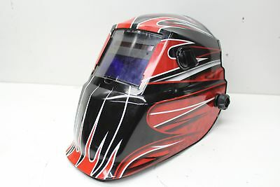 Lincoln Electric Red Fierce Variable-shade Auto-darkening Helmet K3063-1