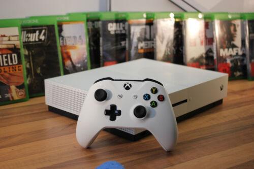 EJS Microsoft Xbox One S 1TB Spielekonsole geprüft vom Händler inkl 3 Spiele