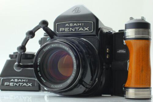 [NEAR MINT]PENTAX 6×7 Late Model Ⅿ up Eye Level+105㎜ F/2.4+Chimney+Grip /JAPAN