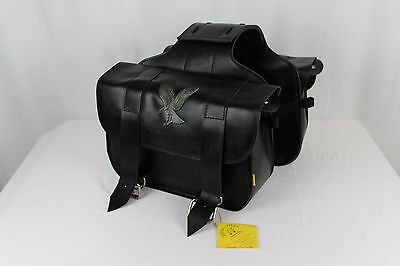 Max Eagle Series - New With Tag Willie & Max Eagle Series Straight Motorcycle Saddlebags SB220