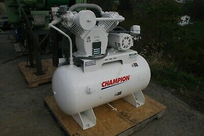 2014 Champion 5hp Reciprocating Air Compressor H5mt011-6 208230460v 3ph