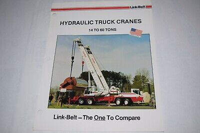 Link-belt Construction Equip. 14 To 60 Ton Hydraulic Truck Cranes Sales Brochure