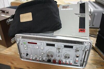 Avo Biddle Multi-amp Sr-90 Relay Test Set Unit Working