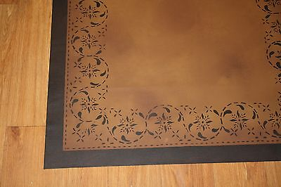Beautiful primitive 3'x4.5' floorcloth! Expertly hand-crafted at a great price!!