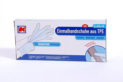 100 TPE Handschuhe Kordis Marke Einweghandschuhe Lebensmittel Einmalhandschuhe M